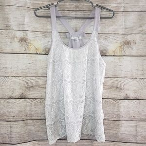 Forever 21 Sleeveless Lace Tank Top